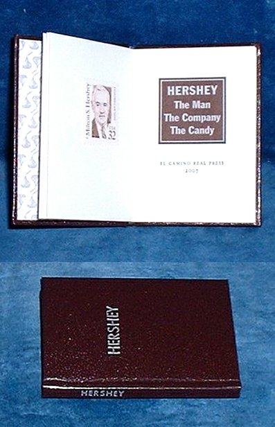 MINIATURE BOOK (FRANCIS J. WEBER) - HERSHEY The Man The Company The Candy