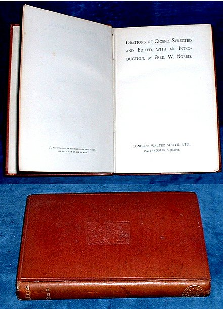 ORATIONS OF CICERO (English translation by Guthrie) 1900