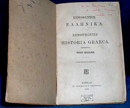 Xenophon - HISTORIA GRAECA Greek text 1901