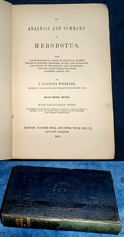 Wheeler - AN ANALYSIS AND SUMMARY OF HERODOTUS 1883