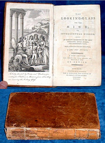 Berquin - LOOKING-GLASS FOR THE MIND or Intellectual Mirror (74 wood-engravings by John Bewick) 1792
