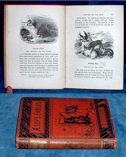 Croxall - FABLES OF AESOP illustrated 1887