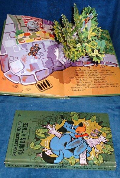 HANNA-BARBERA - HUCKLEBERRY HOUND CLIMBS A TREE a Huckleberry Hound Deluxe Pop-up