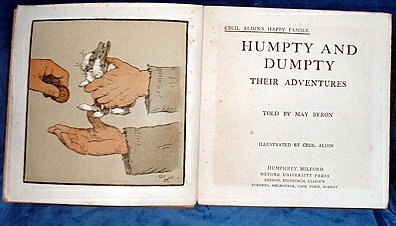 BYRON,MAY (CECIL ALDIN ILLUSTRATIONS) - HUMPTY AND DUMPTY their adventures illustrated by Cecil Aldin