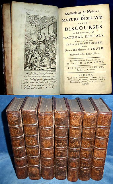 Pluche - SPECTACLE DE LA NATURE: or, NATURE DISPLAY'D 7 vols 1750