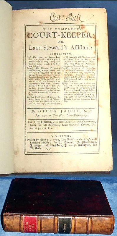Jacob - THE COMPLETE COURT-KEEPER 1752