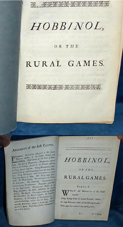 Somervile - HOBBINOL, OR THE RURAL GAMES 1740