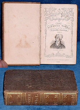 COWPER,WILLIAM - POETICAL WORKS of William Cowper Vol.I
