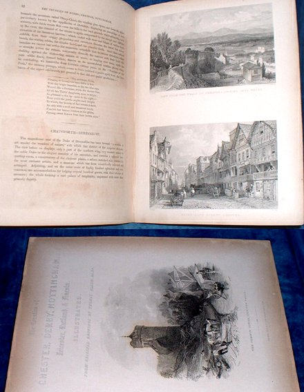 CHESTER DERBY LEICESTER NOTTINGHAM LINCOLN & RUTLAND Illustrated 1836