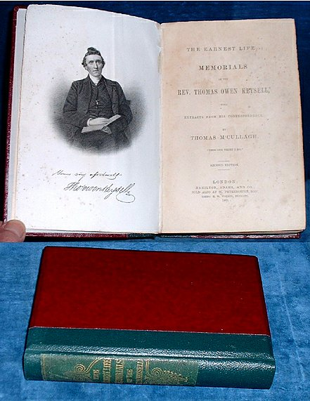 M'CULLAGH, THOMAS (LIFE & LETTERS OF THOMAS OWEN KEYSELL) - THE EARNEST LIFE: MEMORIALS OF THE REV. THOMAS OWEN KEYSELL, with Extracts from his Correspondence. Second Edition.