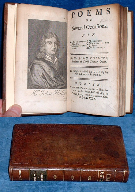 Philips - POEMS ON SEVERAL OCCASIONS Dublin 1730